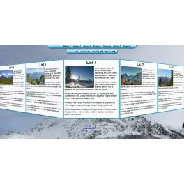 Webová šablona ve 3D - Hory