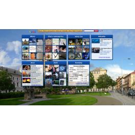Rozsáhlá webová šablona - Město II