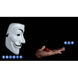 Animovaná webová šablona - Anonymous